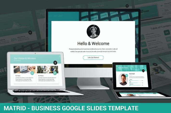 Thumbnail for Matrid - Business Google Slides Template
