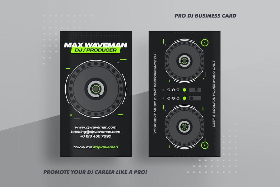DJ & Producer Business Card PSD Template