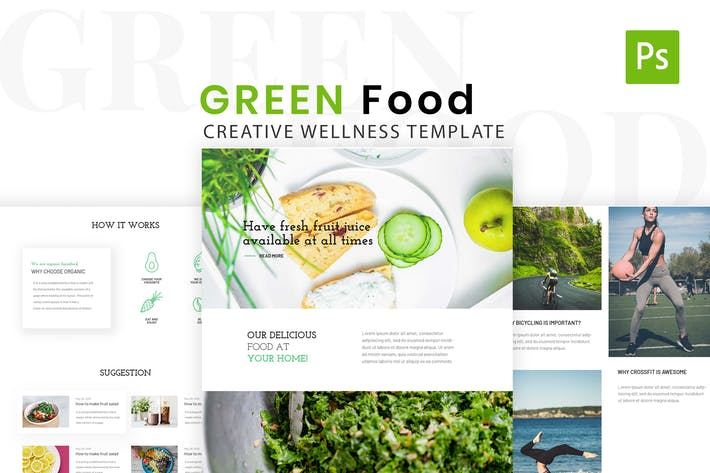 Thumbnail for Green Food & Health Life Style Design Template