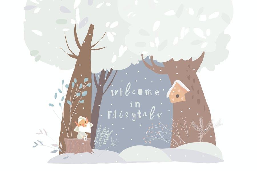 Beautiful Woodland Winter Scene