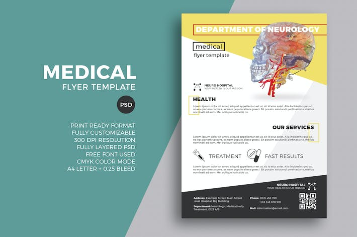 medical flyer template by eightonesixstudios on envato elements