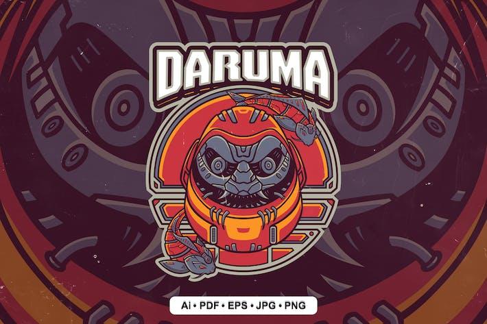 Cyber Daruma Mascot Logo for Esport and sport