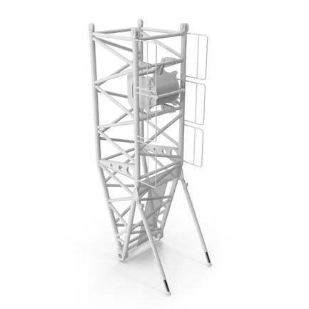 Crane Pivot Section 10m White