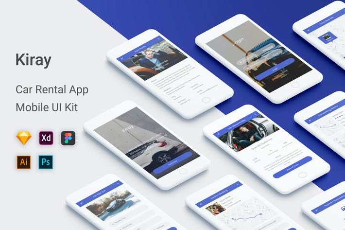 Thumbnail for Kiray - Car Rental UI Kit Mobile App