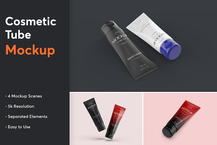 Thumbnail for Cosmetic Tube Mockup 1.0