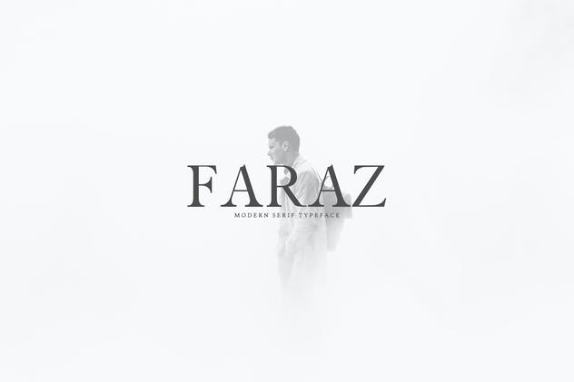 Faraz Modern Serif Typeface - product preview 0