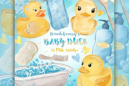 Aquarell Baby Ente Design