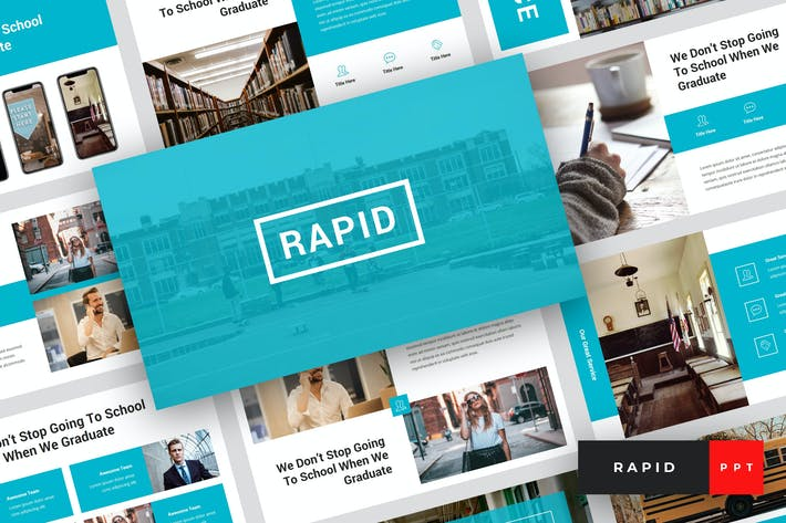 Thumbnail for Rapid - Образование и школа PowerPoint Шаблон
