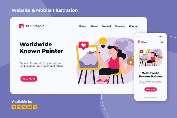 Mädchen in Bewegung - Berühmte Maler Web & Handy