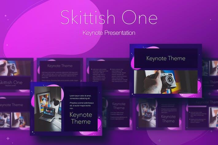 Thumbnail for Skittish One Keynote Template