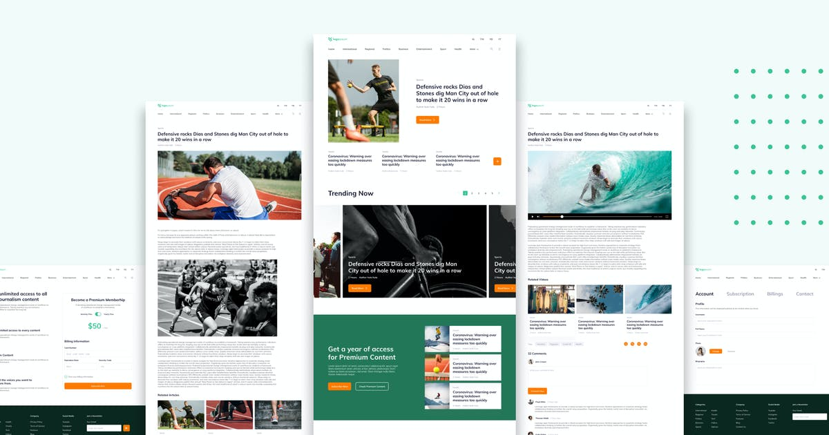 Download News Editorial Website Template by TanahAirStudio