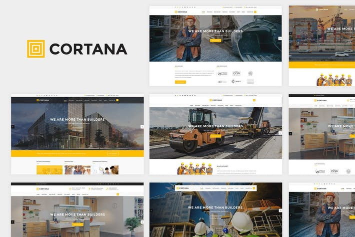 Thumbnail for Cortana - Construction Website Template