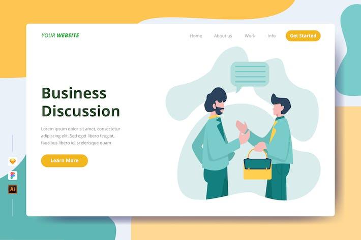 Thumbnail for Discussion d'affaires - Page de destination