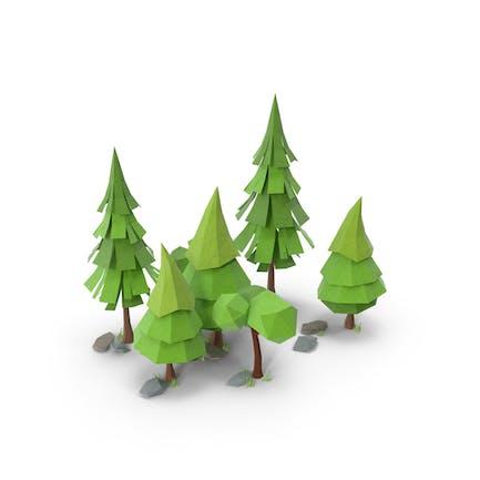 Low-Poly-Wald