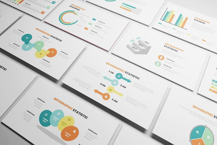 Thumbnail for Statistic Infographic Powerpoint Template