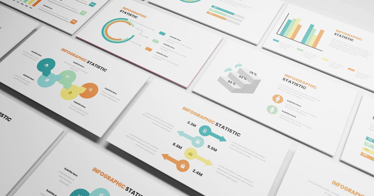 Download Statistic Infographic Powerpoint Template by Formatika