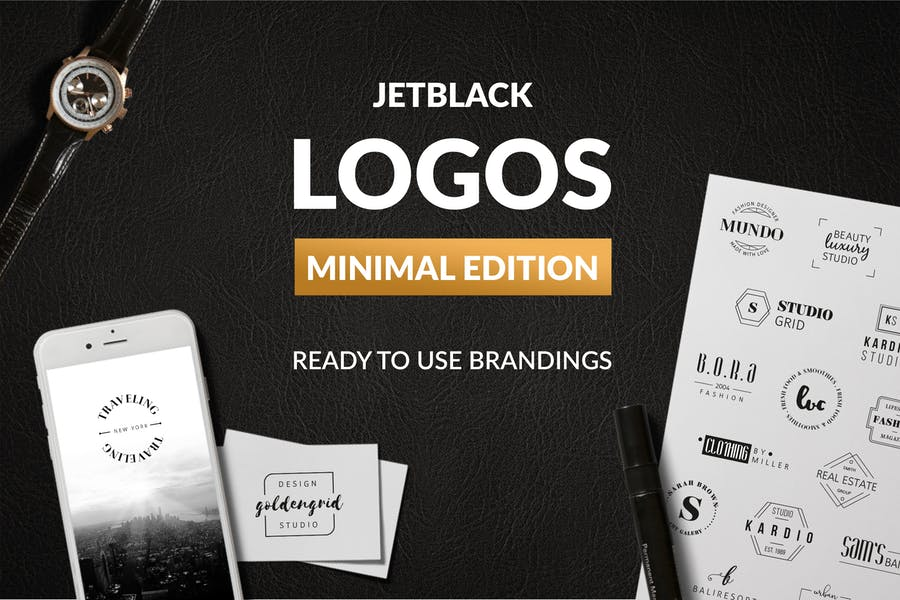 30 Logotipos prefabricados — Edición Minimalista
