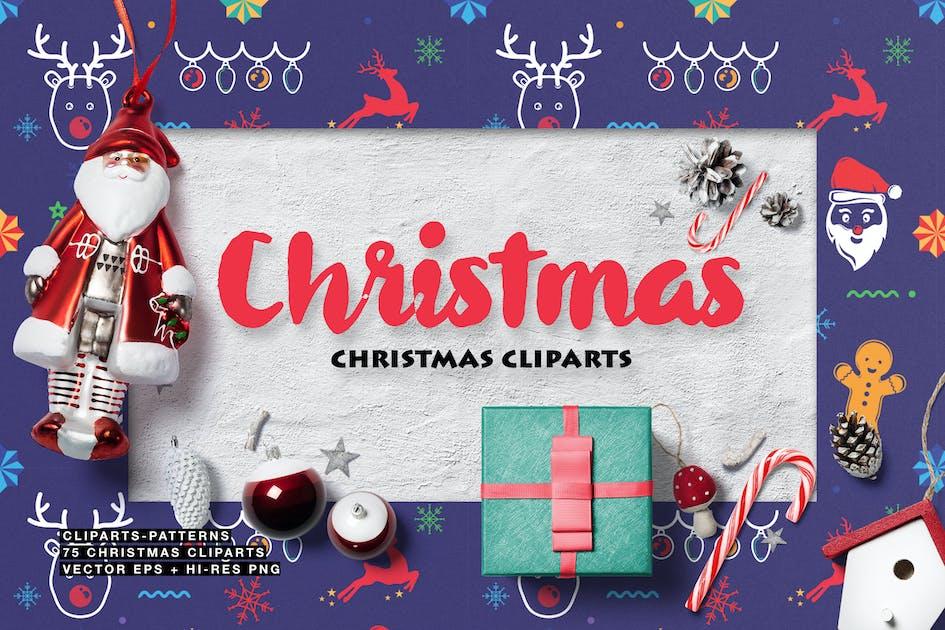 Christmas Cliparts von Wutip auf Envato Elements