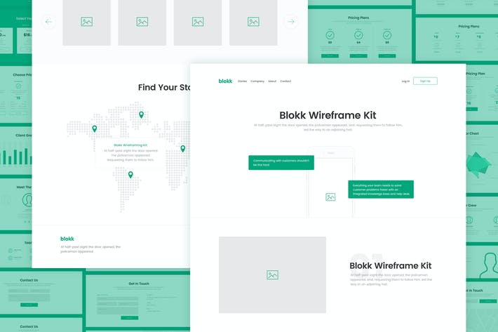 Cover Image For Blokk Wireframe Kit