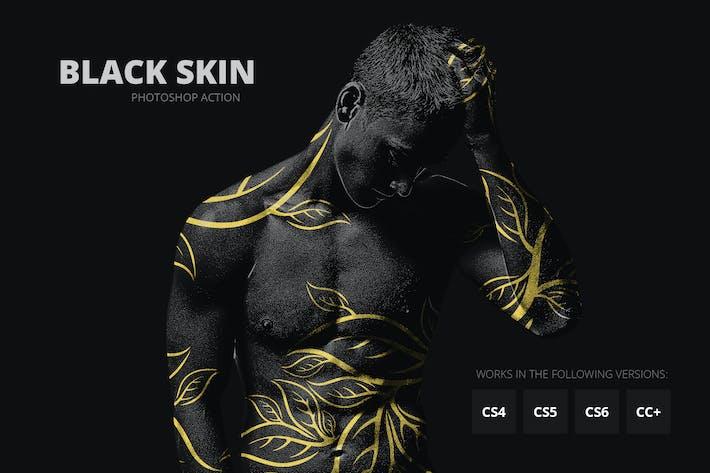 Черная кожа Photoshop Action
