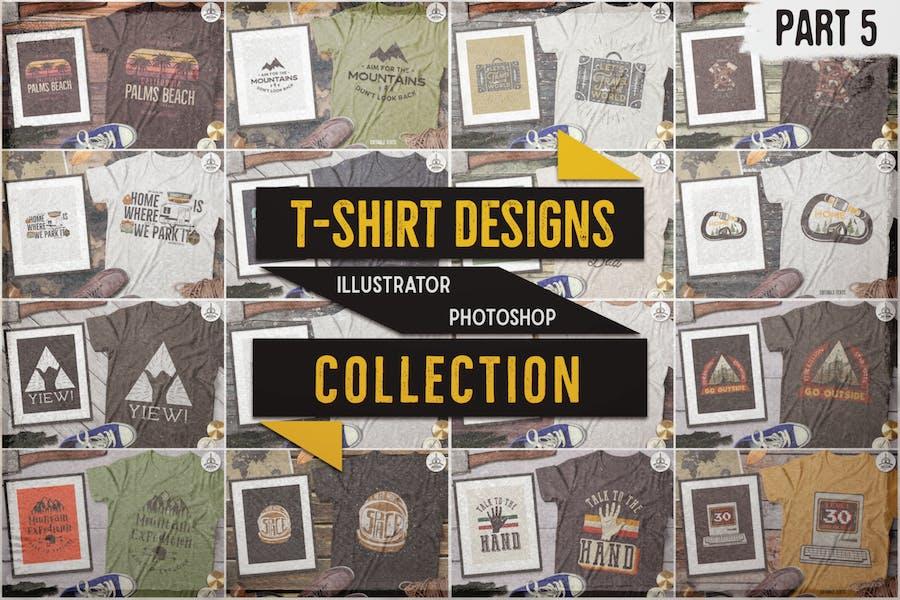 T-Shirt Designs Retro Collection. Part 5 / Vintage