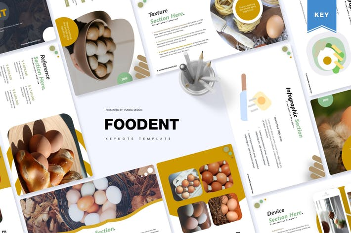 Thumbnail for Foodent | Keynote Template