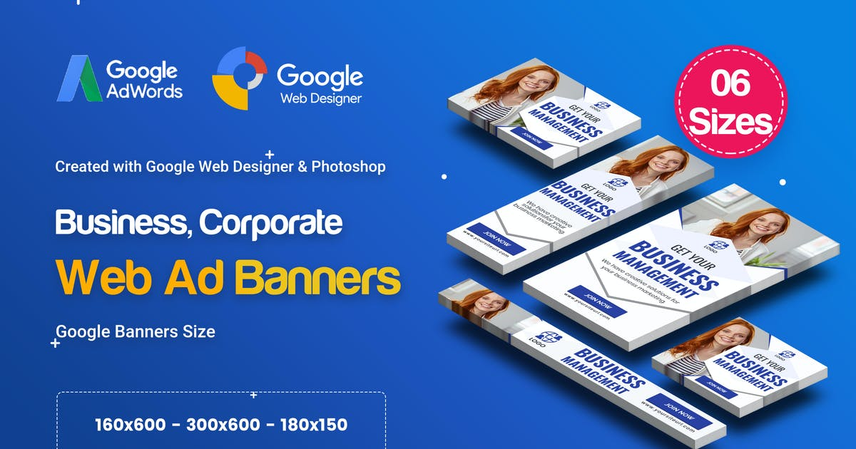Download C44 - Business, Corporate Banners GWD & PSD by iDoodle