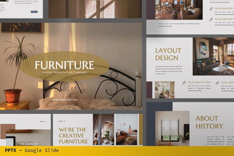 Мебельный бизнес Google слайд