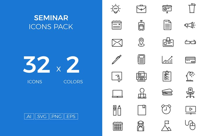 Thumbnail for Seminar icons pack