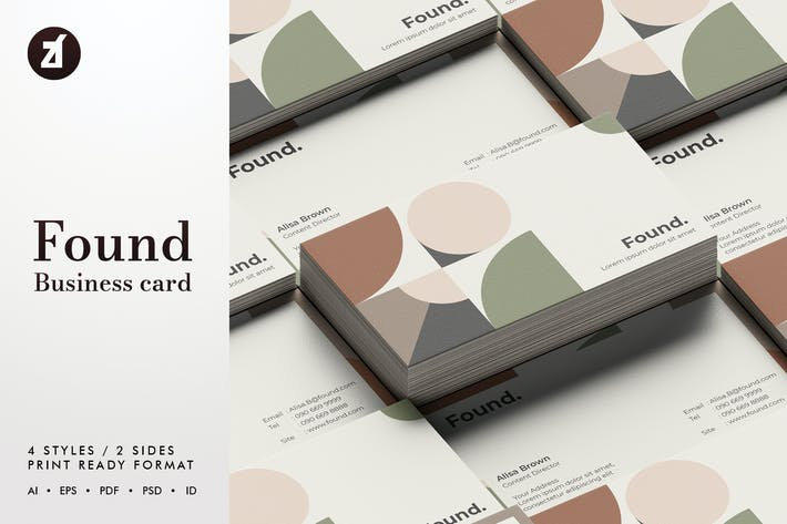 Thumbnail for Found - Business card template