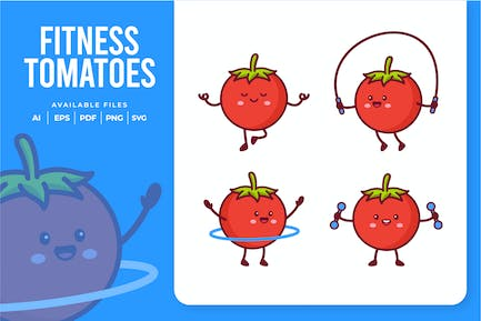 Cute Fitness Tomatoes