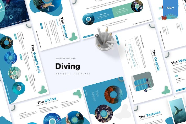 Thumbnail for Diving | Keynote Template