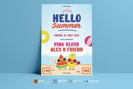 Flyer für Sommerfest Vol. 02