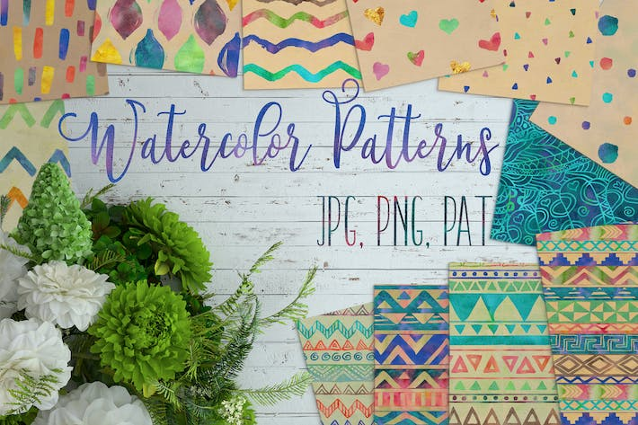 Thumbnail for 12 Watercolor Patterns