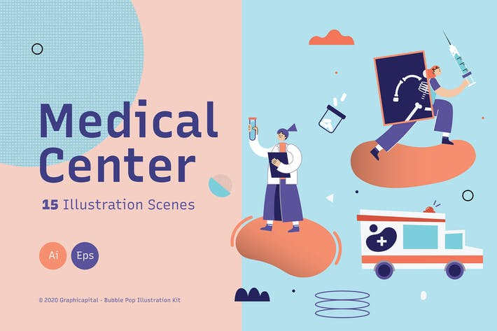 Thumbnail for Medicworks Landing Page Graphic Illustration