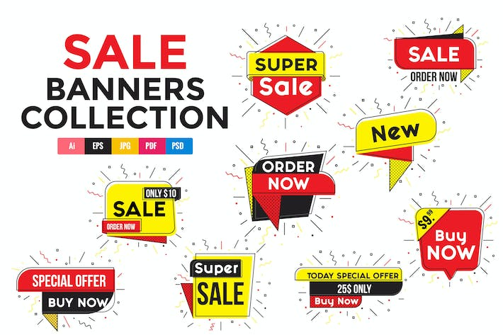 Thumbnail for Collection of Sale Discount Styled Banners