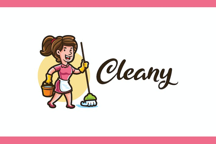 Thumbnail for Cleany - Maid Service and Housekeeping Logo