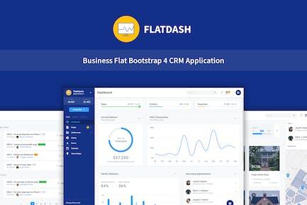 FlatDash - Business CRM Dashboard Application