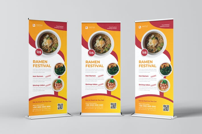 Good Food Ramen Festival Roll Up Banner