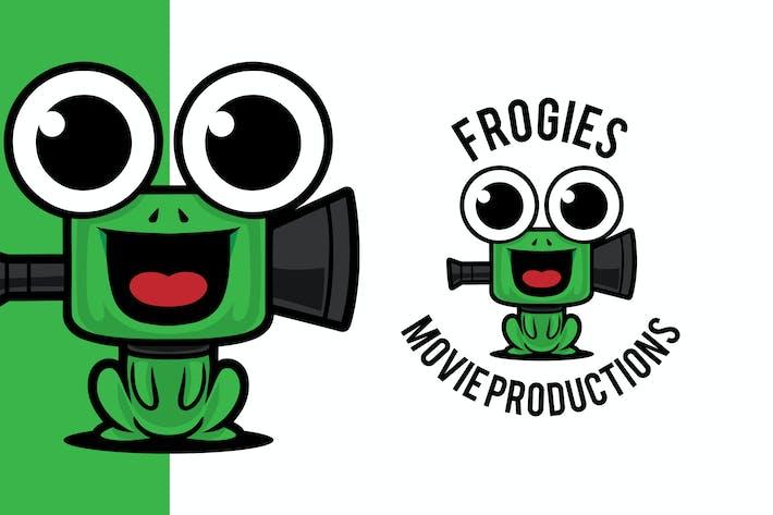 Thumbnail for Frog Play Movie Studio Logo Mascot Template