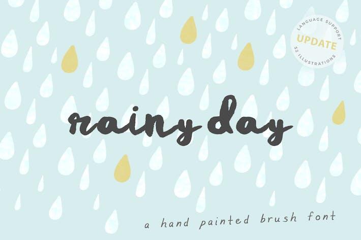 Thumbnail for Rainy Día Brush Font