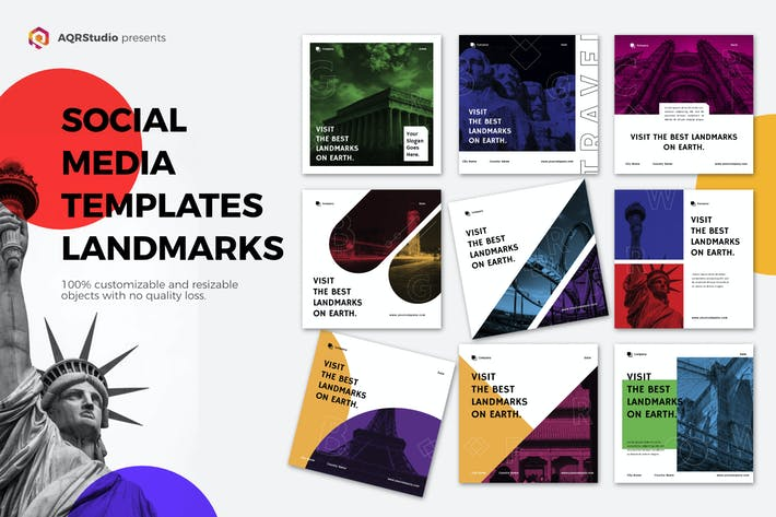 """Thumbnail for Vorlage für soziale Medien """"Landmark"""""""