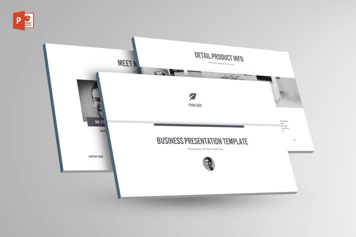 Thumbnail for BLACK & WHITE Multipurpose Powerpoint Template V25