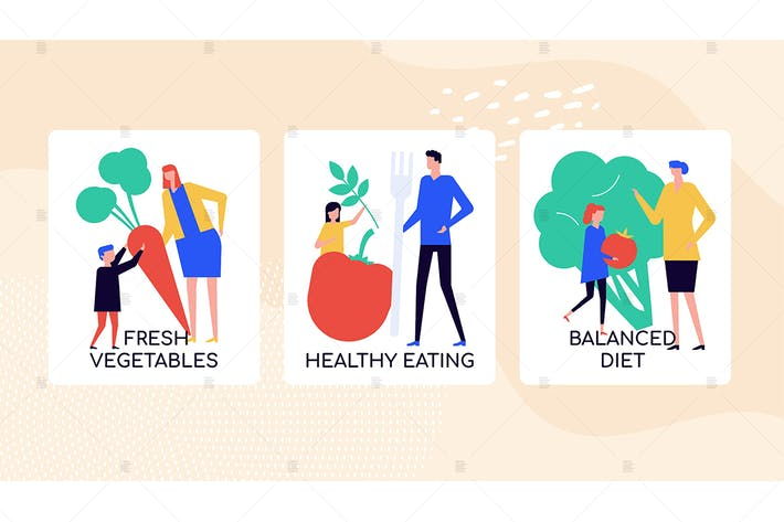Thumbnail for Healthy eating habits colorful banner