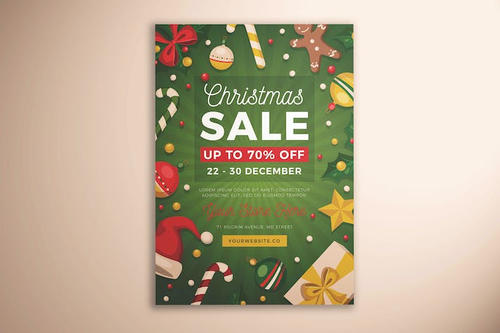 Christmas Sale Flyer Template Design