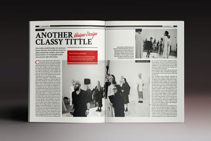 The Standing Magazine Indesign Template
