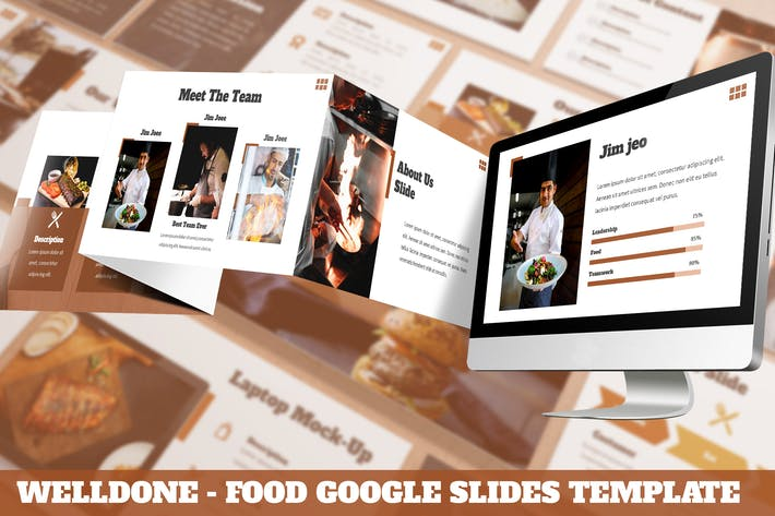 Thumbnail for Welldone - Food Google Slides Template