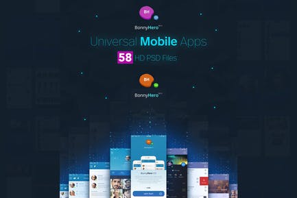 Bonny Hero Mobile UI Kit App