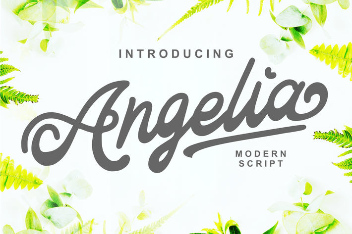 Thumbnail for Angelia - Modern Script