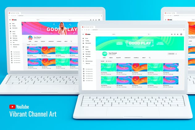 Vibrant Youtube Channel Art - product preview 0